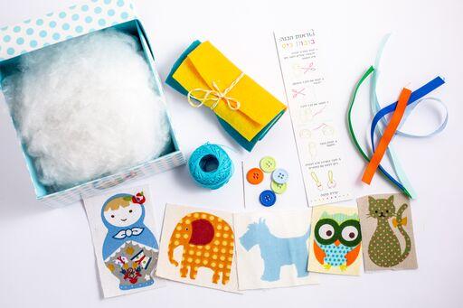 מרכיבי הערכה להכנת בובות לילדים